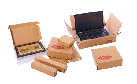 Brown Corrugated Boxes/Packaging Boxes  (Size: 14x12x4 inches) Pack of 25