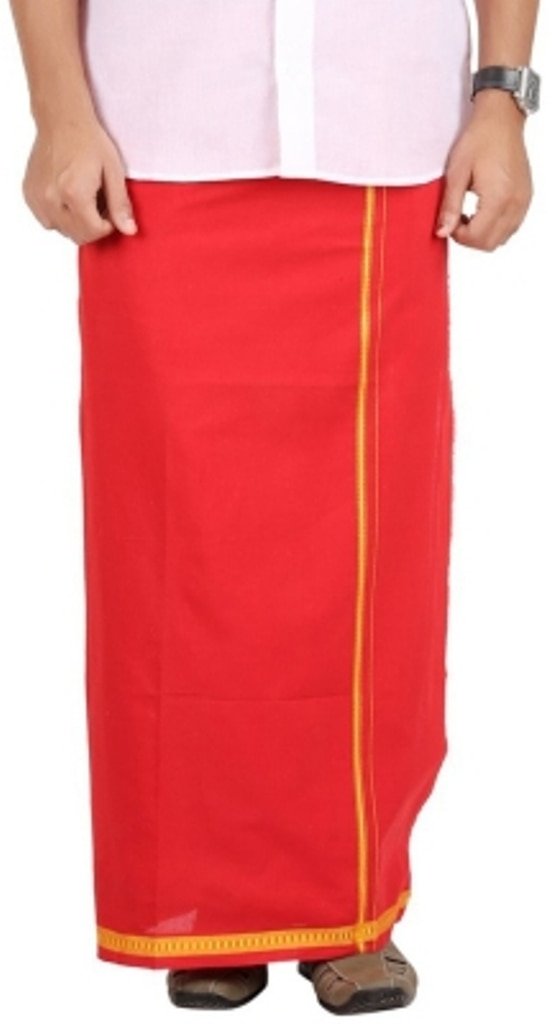 Cotton Red Color Dhoti