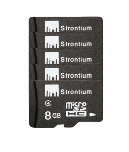 Strontium 8 GB Micro SD Card Class 6 (Pack of 5)