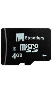 Strontium 4 GB Class 6 MicroSD Memory Card-Set of 4