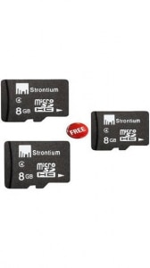 Strontium 8 GB Class 6 MicroSDHC Memory Card (Buy 1 Get 2 Offer)