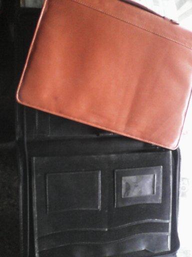 Brown leather bag file