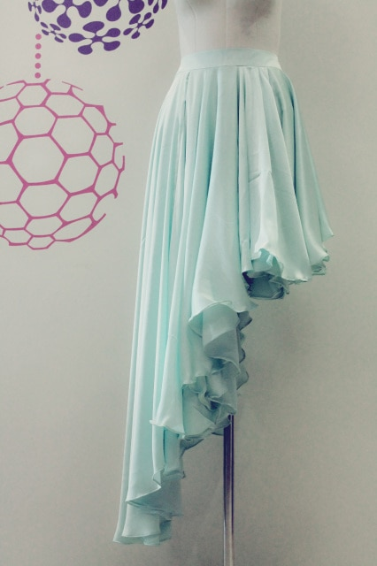 Azyue Designs Aqua Asymmetric Skirt