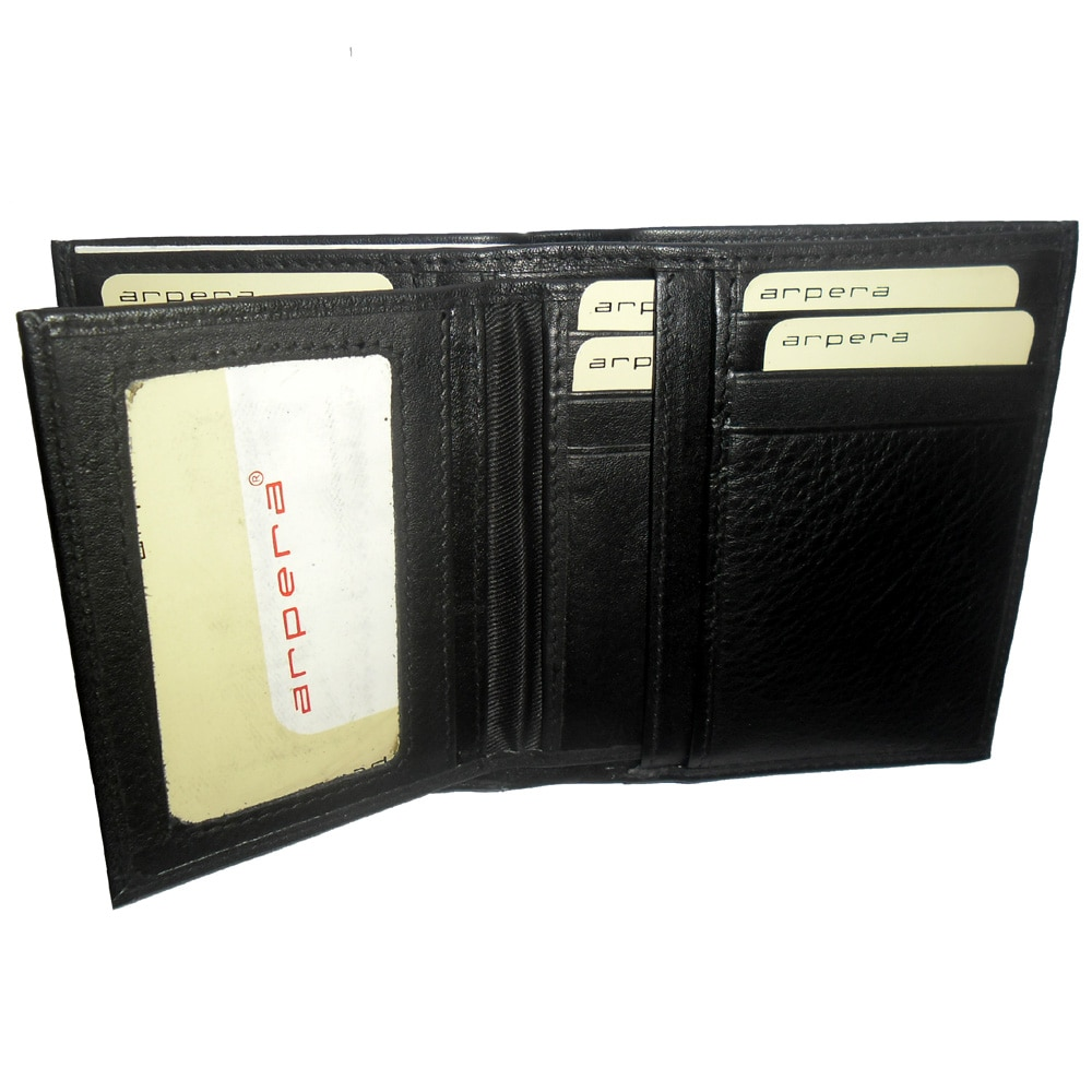 Genuine Leather Credit Card Wallet-590-b084-black