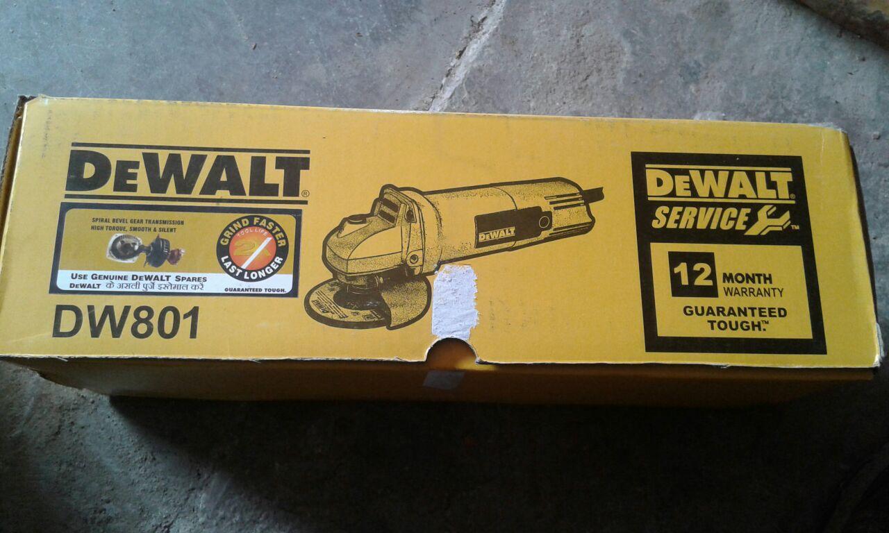 Angle Grinder Dewalt Small Angle Grinders, DW801, Wheel Dia: 100 mm, 850 W