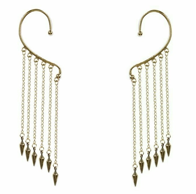One pair of designer earcuffs for women
