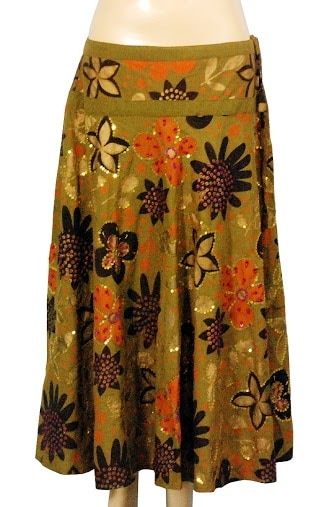 New Ethnic Bollywood indian Cotton Printed Short Skirt