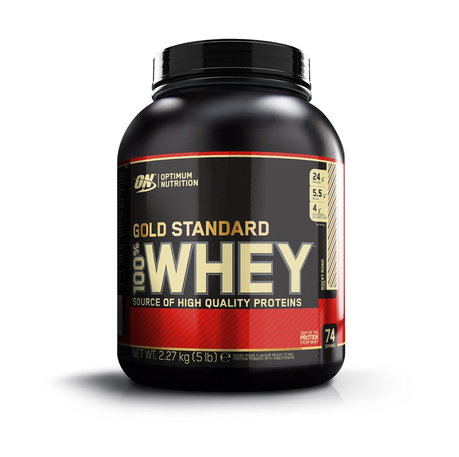 ON (Optimum Nutrition) Gold Standard 100% Whey Protein, 5 lb