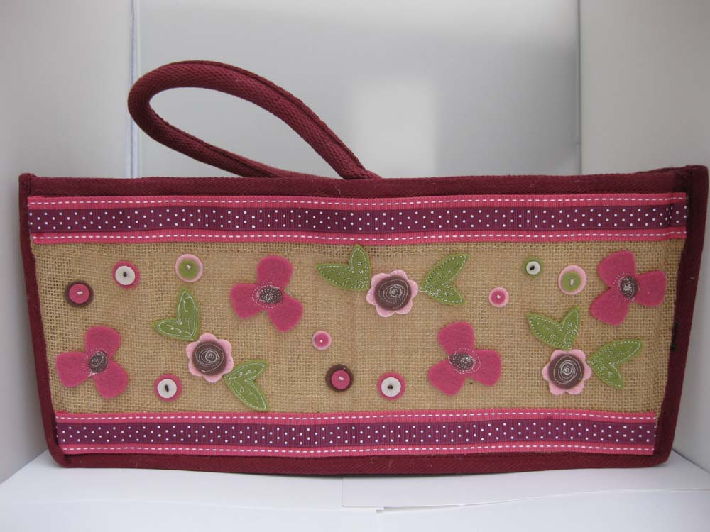 Bottle carry jute bag