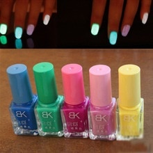 5pcs/set 20 Candy Colors Nail Lacquers Fluorescent Luminous Neon Glow In Dark Varnish Nail Art Polish
