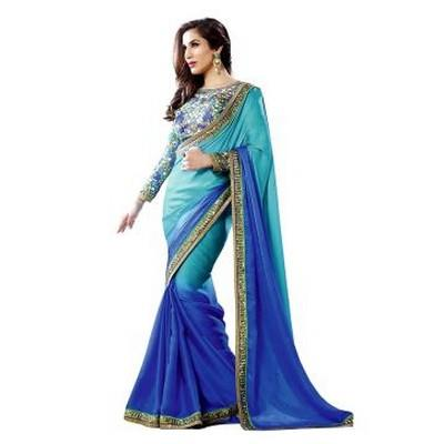 Faux Georgette Saree,