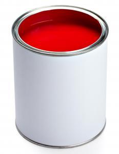 Single Red Interlocking Tiles Paint