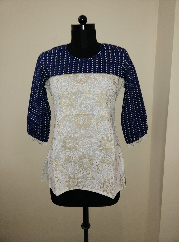 Khadi Blue Top