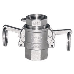 """couplings enable pipe and hose connections to be made without the use of hands tools; thus eliminating the difficulty in making threaded connections or a flanged connection. Almost instantly connections can be made to an outlet, a faucet, a valve, a tank or coupling lengths of hose. No pipe fitting skills, wrenches or tools are required. A connection is made by simply pushing the handles down to the sides of the coupler.   DESIGN AND CONSTRUCTION  • SUPERIOR quality body – precision machined surfaces  • Meets or exceeds Military standards  • Highest quality standards employed  • Uniform wall thickness assessors no coupler bodies  • Large diameter cam ears for longer service life  • Extra high strength handes for assurance in connections  • Recess retains gasket in coupler  • Stainless Steel cam pins for long wear and ease of replacemen   APPLICATIONS  • LIQUID HANDLING   PERFECT–TITE cam –lock couplings are standards throughout the petroleum industry –on tank trucks, tank trailers, tank farms, refineries, etc.-where """"leak proof"""", speed and simplicity of connection and utmost reliability are required. EVER-TITE couplings are also used in breweries, wineries, pharmaceutical for connections that are made frequently such as to holding tanks, batch equipment wash lines and waste lines.  • SLURRIES   Liquefied mixtures of coal, charcoal, cranberries, grapes – practically any slurry that can be pumped –can be conveyed with PERFECT-TITE quick couplings.  • DRY PRODUCTS   PERFECT-TITE couplings are used in air –veying systems for conveying grain, sugar, cement, pellets and other airborne products to and from silos, bins, hoppers, railroad cars and process equipment"""