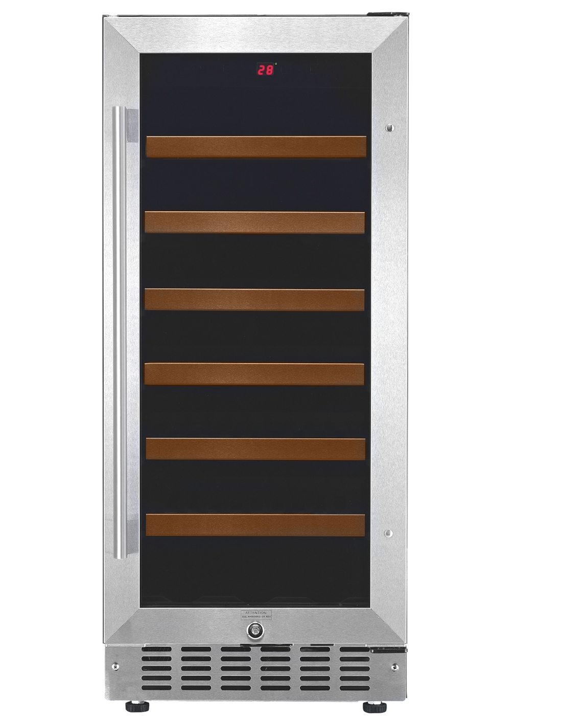 WINE COOLER 33 BOTTLES WHITE WESTINGHOUSE USA - SINGLE ZONE, BUILT-IN FOR RED / WHITE / SPARKLING WINES WITH STAINLESS STEEL DOOR FRAME
