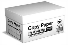 Copier Paper, printing paper, fax paper,A4 paper, office paper, photo paper  Usually a lightweight paper that is used in copy machines also known as reprographic paper, copier paper, dual-purpose, or xerographic paper. It's generally thin with a small amount of transparency. Mainly used in copying, typing, plain paper faxes & general stationery.