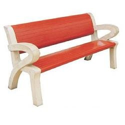 Each bench consists of 2 Nos. L-shape base support in grey cement colour (thickness:80 mm, Back height:890 mm, Front height:450mm, and Base width:690mm) and 1 nos. reinforced concrete plank in red colour of size 1500mm X 400mm X 50mm, and 1 no. of reinforced concrete plank in red colour of size 1500mm X 425mm X 50mm, Overall Dimensions: Seating length of the Bench:1500 mm, Seating height of the Bench:450 mm, Total height of the Bench:890 mm, Manufactured by using M-30 grade of Concrete using vibro compaction process Reinforced suitably to promote long use and to prevent damage during handling, transportation, & erection, All parts are joined together with galvanized nuts & bolts of suitable size and all bolts are sealed after assembly, Bench top and back planks are treated with special anti-corrosive, water proof coating so as to make surfaces glossy and water proof.