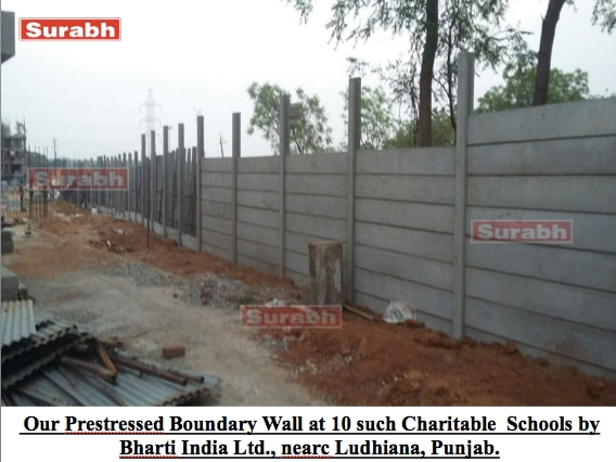 RCC Prestressed Precast Boundary Wall. These offered walls are constructed using prime quality raw material that is sourced from the most valued vendors of the industry. Moreover, this range undergoes stringent quality checks as per industry defined standards and norms. In addition to this, clients can avail this range in various sizes, grades and dimensions as per their tastes and preferences.