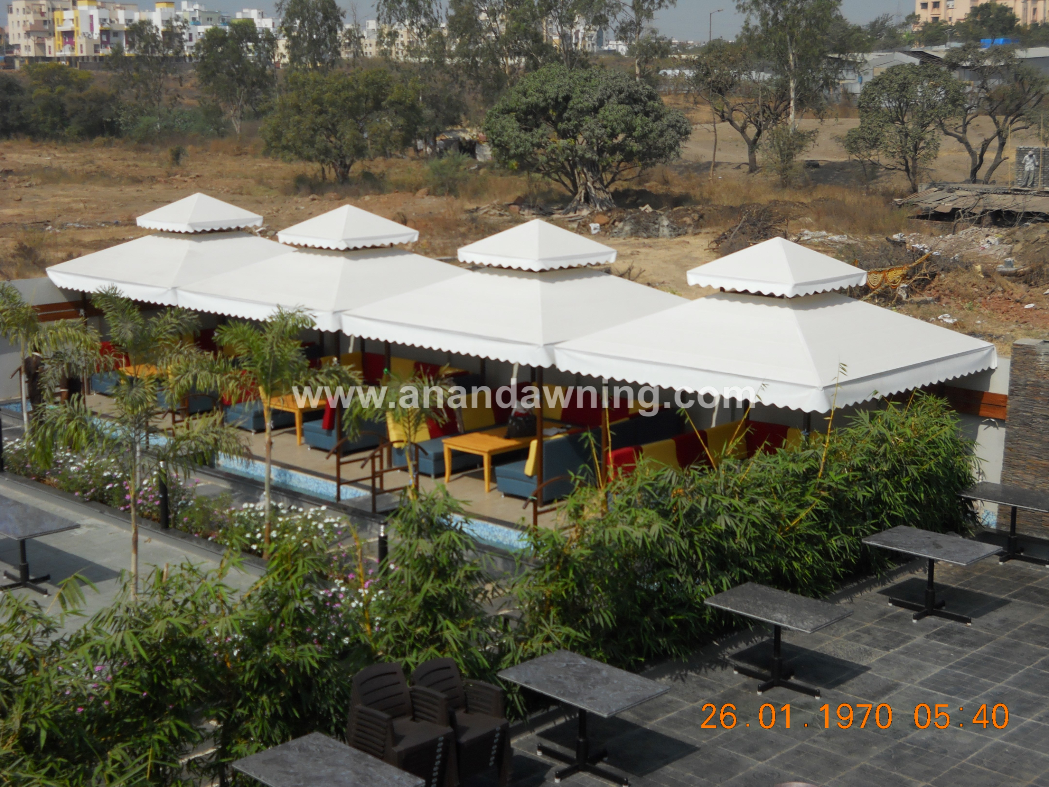 We offer superior quality OutdoorGazebos of various designs and styles for outdoor sitting arrangements. Tent are perfect for outdoor activities like picnics, camps, outdoor parties and functions. These furniture are in high demand amongst our clients as these are highly functional and cost effective solutions for utilizing outdoor spaces. We supply these Tents in vibrant colors and design patterns as per the requirements and preferences of our clients.  Features Compact design Flawless finish Dimensional accuracy