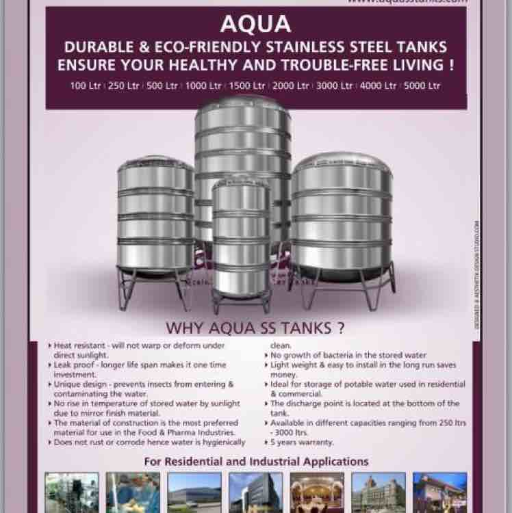 Stainless steel tanks capacities from 50 litres to 5000 Liters in ss 304 & 316 for more details call 9885655133