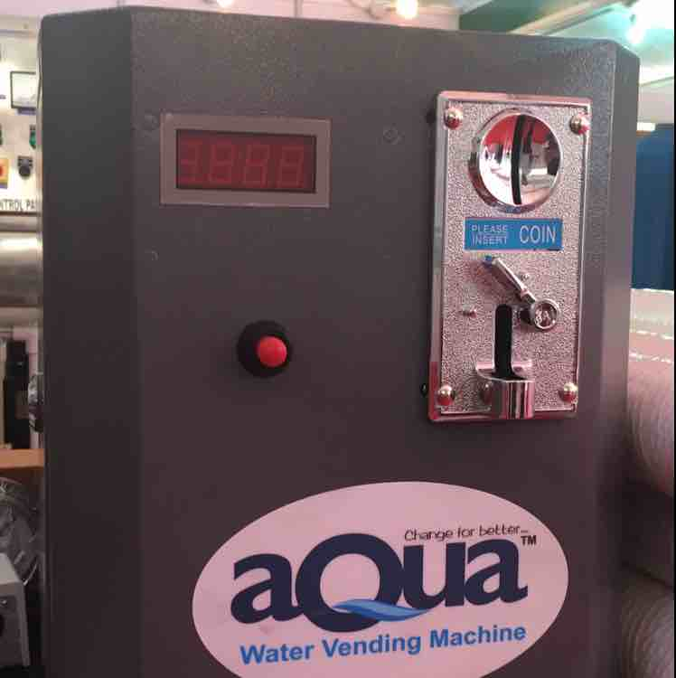 Coin operated water vending system