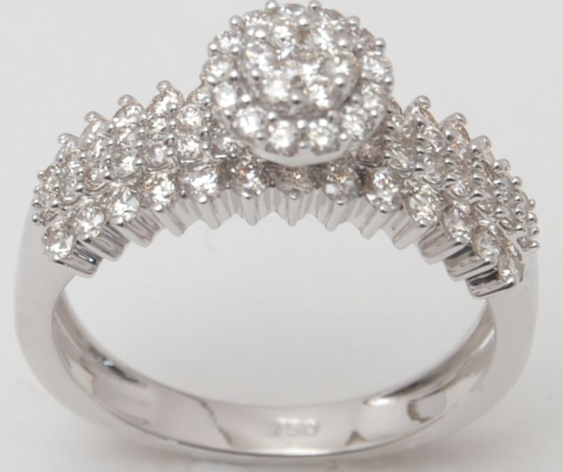 Diamond Studded Designer White Gold Wedding Band Supplier