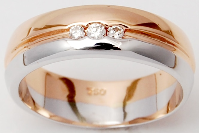 Rose White Gold Designer Wedding Diamond Band For Men
