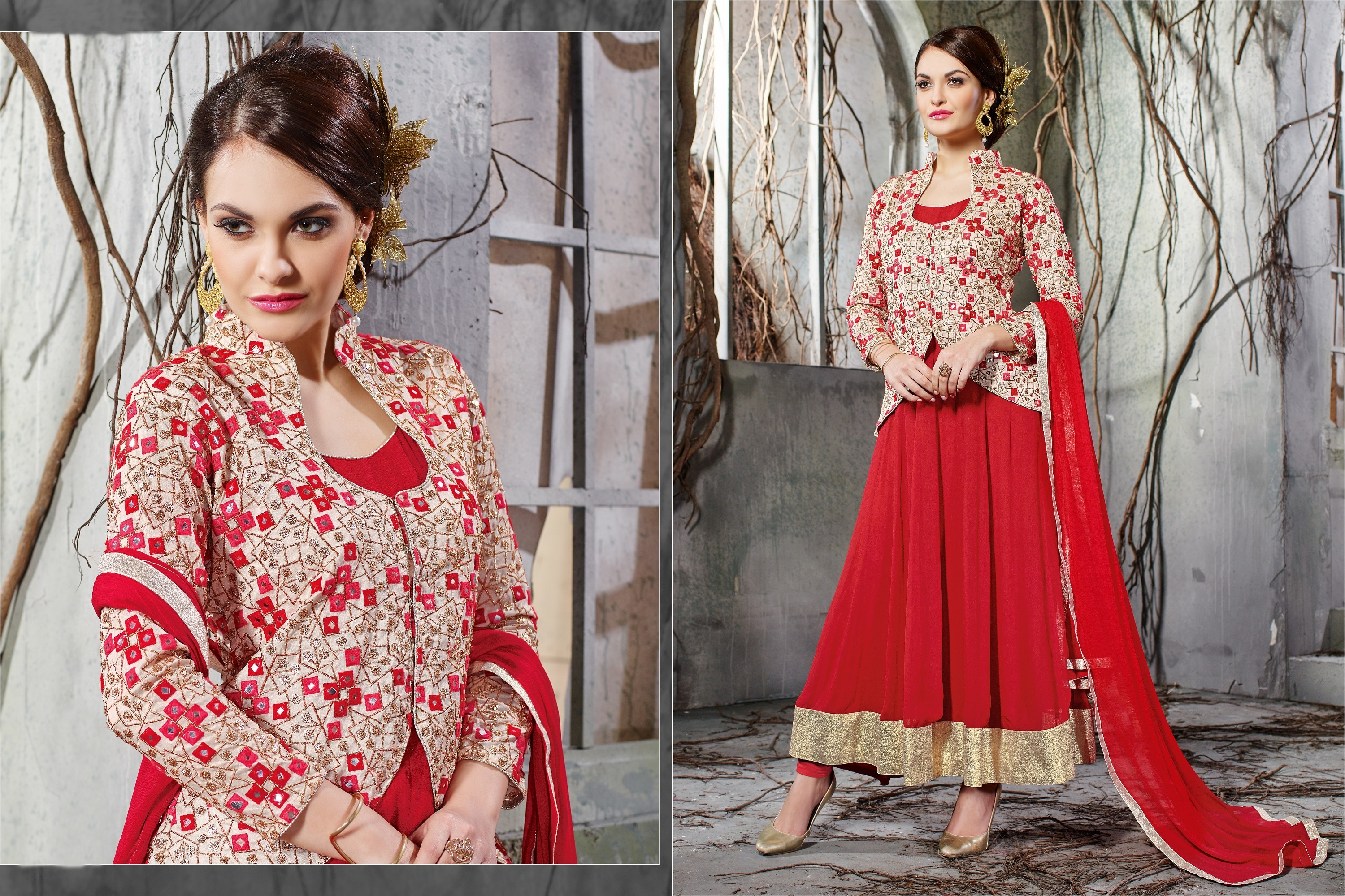 Embroidery Georgette Beautiful Anarkali Suit