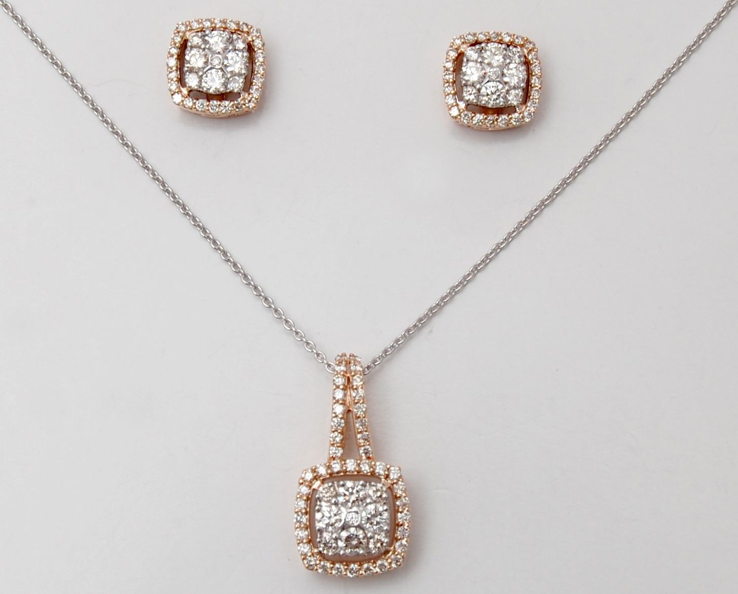 Diamond cluster and halo set pendant earring design in jaipur india diamond cluster and halo set pendant earring design aloadofball Image collections