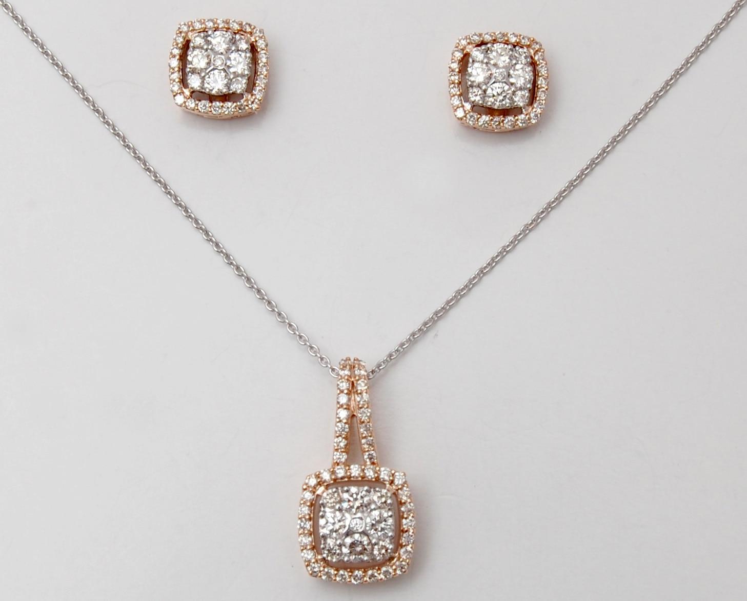 BUY Diamond Cluster And Halo Set Pendant Earring Design in Jaipur ...