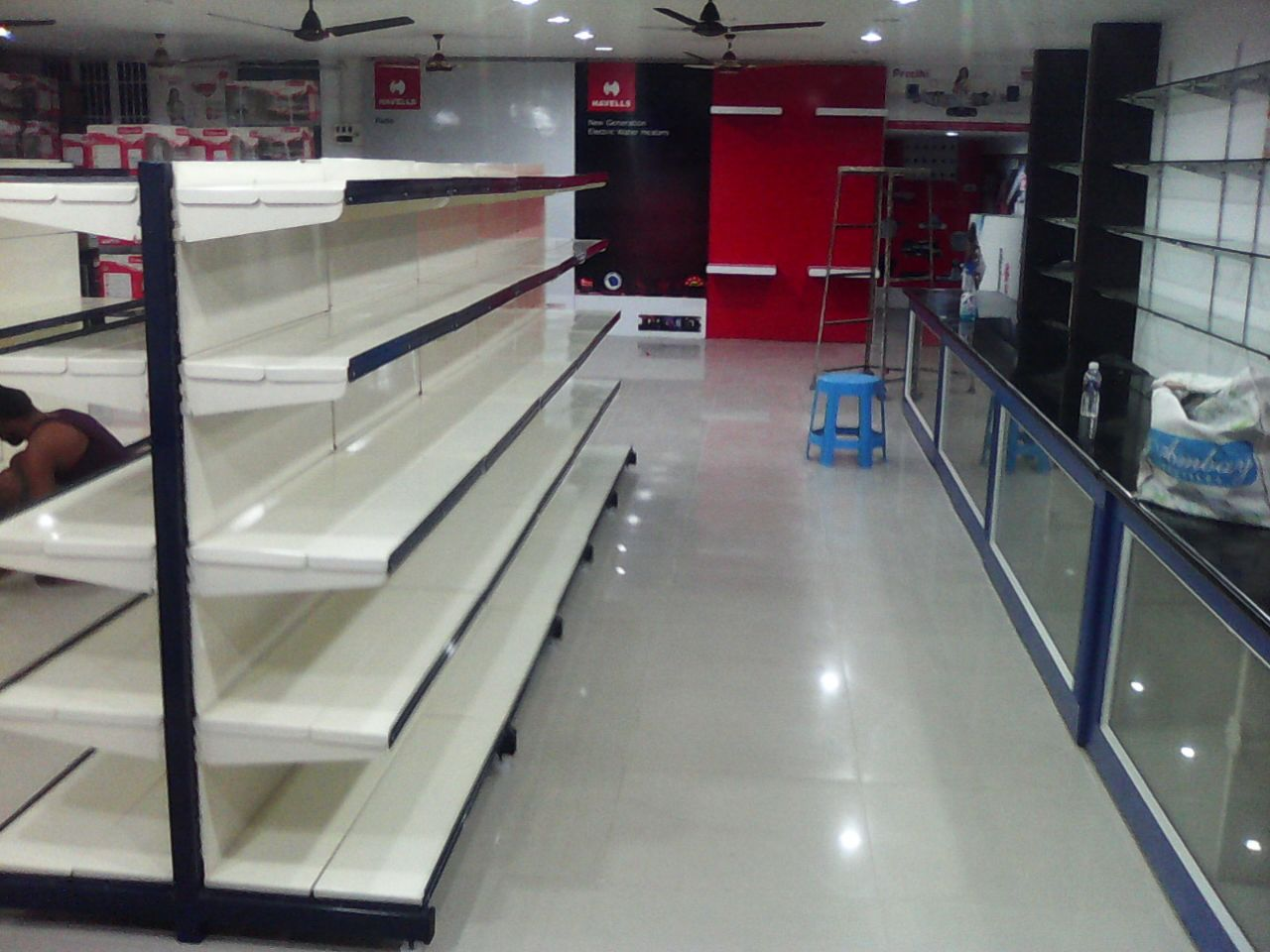Supermarket racks are manufactures as per the customer requirement.