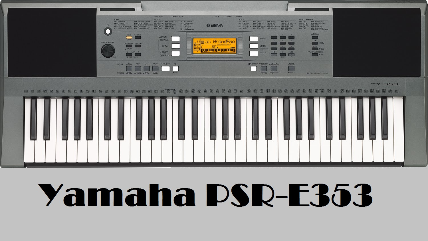 PSR-e353 is Jam-packed full of incredible Instrument Voices, Accompaniment Styles and fun Features. It's an ideal Portable Keyboard for Beginners and Hobbyists, Featuring touch sensitive Keys, On-Board lessons, Computer and Mobile device connectivity and much more. Touch-responsive keyboard for a broad dynamic range A comprehensive library of 573 high quality Voices, including pianos, guitars, drums and orchestral instruments Nine-step lesson function (Yamaha Education Suite) helps beginners learn to play songs Connect your music player, turn the melody down with Melody Suppressor, and jam along with the music! Use Master EQ to adjust the sound Connect to an iPad/iPhone and expand your keyboard with software and apps 150 different arpeggio types provide remarkable expressive power 158 auto accompaniment Styles provide real-time band backing tracks. Music Database makes it easy to choose a musical category The PSR-E353 comes equipped with easy-to-use onboard lesson Functions for Beginning players, and Comes with a touch-Responsive Keyboard that will satisfy more experienced musicians. In Addition to enjoying comprehensive library of 574  instrument Voices from around the world, you can also connect an Audio Player and play along with your Favorite songs, or connect to IPhone/iPad or your PC to use with a variety of different Apps and Software.