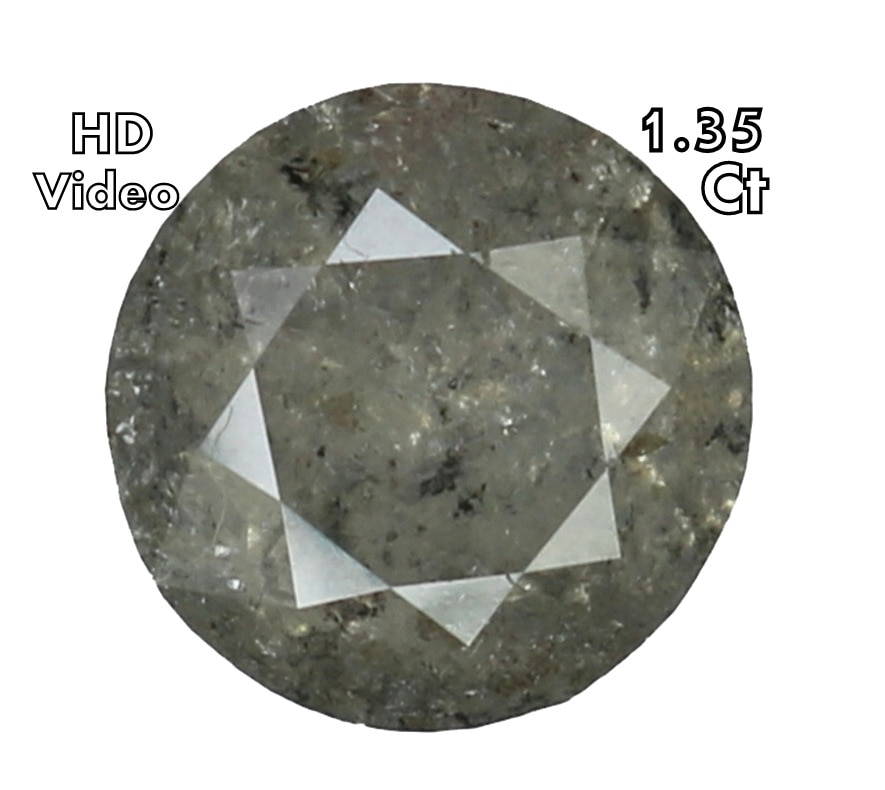 1.35 Ct Natural Loose Diamond Cut Round Shape Grey Color L6429