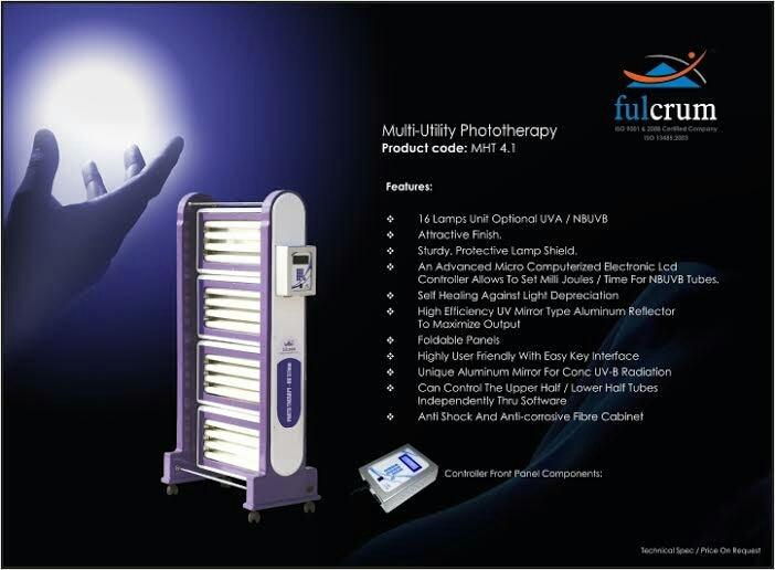 We have 16 UV B lamp Phototherapy unit with control box
