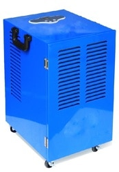 Providing you the best range of refrigerant dehumidifier, automatic refrigerant dehumidifier, portable refrigerant dehumidifier, pharma refrigerant dehumidifier and industrial refrigerant dehumidifier with effective & timely delivery.     Features:  1: HEPA filter eliminates pollutant particles and unpleasant odors  2: Microcomputer digital intelligent control  3: Auto control from 30% to 95% humidity  4: Low temperature automatic defrosting system  5: Big wheels and handle, easy to move around  6: Delayed startup for protection  7: Environmental-friendly refrigerant R410a  8: External pipe allows continuous drainage  Application:  • Drying of new buildings  • Workshop  • Laboratories & Computer Rooms  • Water Treatment Plants  • Warehouse & Storage Areas  • Dry air(aeroplanes, boats, boilers, turbines, container car)  • Military - (Tanks, cars, fighters)  • Commercial Swimming Pool Facilities   Specification:-  1, Dehumidifying capacity: 30L/day2, Airflow: 300 m³/h3, Power supply: 110V/60Hz4, Power consumption: 700W5, Applied temperature: 536.Dehumidifying range: RH 40% to 90% (depends on a proper environment) Request Callback   Additional Information:      Item Code: NTC-WKR-30L