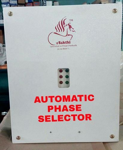 We are a Automatic Phase Selector manufacturer, supplier in India. We are an Automatic Phase Selector exporter also. This product is developed by experts who have affluent industry knowledge and skill. To maintain the quality, experts develop our products employing the finest quality material which is obtained from industry certified sellers. Our customers can acquire from us this product in diverse configurations. Automatic Phase Selector In three-phase applications, if low voltage is available in any one or two phases, and you want your equipment to work on normal voltage, this circuit will solve your problem. However, a proper-rating fuse needs to be used in the input lines (R, Y and B) of each phase. The circuit provides correct voltage in the same power supply lines through relays from the other phase where correct voltage is available. Using it you can operate all your equipment even when correct voltage is available on a single phase in the building. It is an electrical/ electronic device which feeds the same 3 phase input voltage to the output without any change when all the 3 phases are available. The main advantage of the Automatic Phase Selector is it automatically continues to feed 3 phase output even with only single phase and other 2 phase is not available. No need to change the phases manually.  Features:  * Instant automatic phase change when any phase fails.  * Can get electric supply in all three phase lines. During phase failure. * Need not monitor for switch back. * Avoids physical operation and suffering. * Can select to suit your requirement. * Quality components are used to provide 100% efficiency.