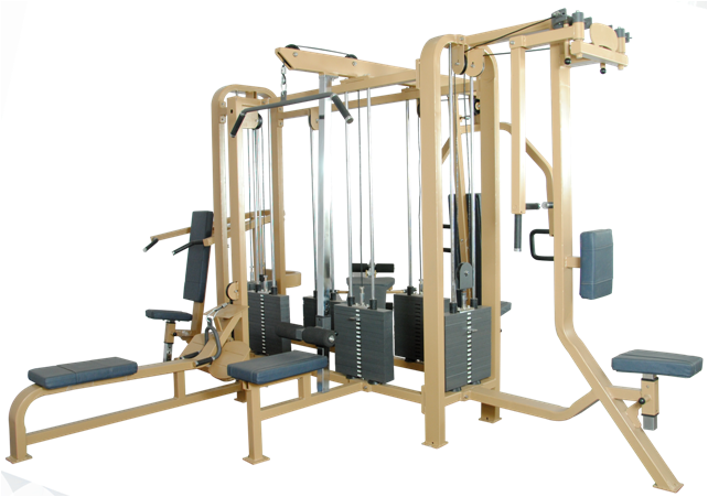Make: Maruti Gym Equipments  Equipment: 6 Station Multi Gym  Model: MGE-6MG