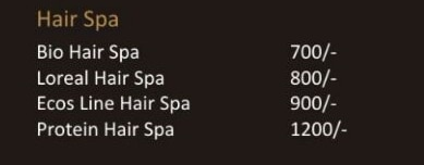 HAIR SPA PACKAGE