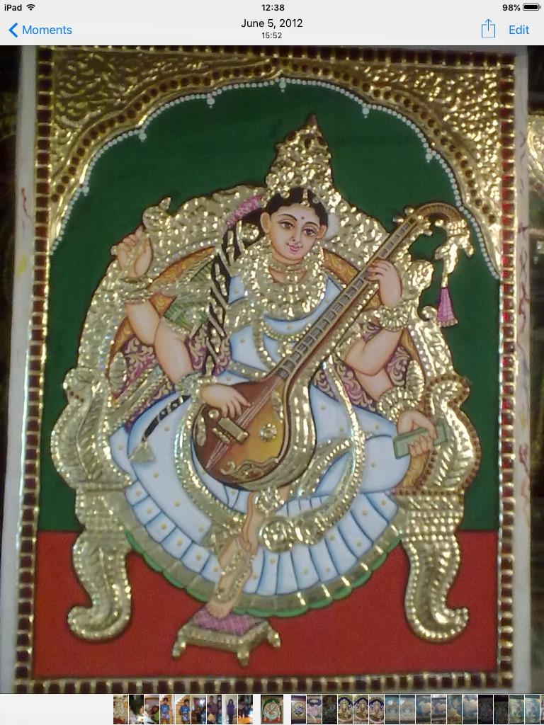 Saraswati paint by p