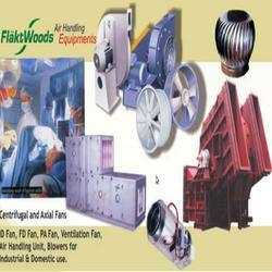 ans for conventional and domestic applications. However larger industrial fans and ventilation systems can be designed specifically for more industrial heavy duty applications. Flatt Woods manufacture axial fans for standard air movement as well as specified applications such as emergency and high temperature extraction, including industrial processes ventilation. Flatt Woods centrifugal fans are suitable for applications such as boiler and furnace ventilation, pneumatic conveying and timber industry applications, where air is dusty or contaminated. Other products include boxed fans, mixed flow, composite technology and roof extraction fans.