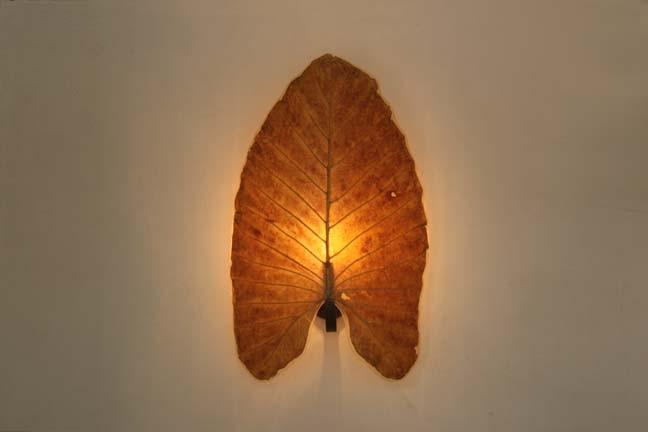 "Wall Lamp ""Elephant Ear Leaf"""