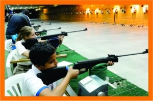 1. Introduction of Sport of Shooting. 2. The main aim is to identify the natural talent in shooting which is immense in India. 3. The conceptualization of the course has been entirely done by our foreign coaches having an experience of 40 years with 10 different countries. 4. Specialized training has been provided to each coach to deliver the program as per the designed elements. 5. All Students are trained at the state of the art Olympic Facility Shooting range. 6. Focus on mind training, self control, patience and accuracy. 7. A genuine medal prospect and attracts young kids with Olympic ambitions. 8. All basic techniques of Shooting covered. 9. Also conducted on weekends (4days) (Corporate Batch)