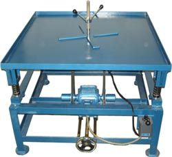 Vibrating Table for Concrete Cube Mould 1 ) Size : 24 inch  x 24 inch. 2) Size : 1 meter x 1 meter.