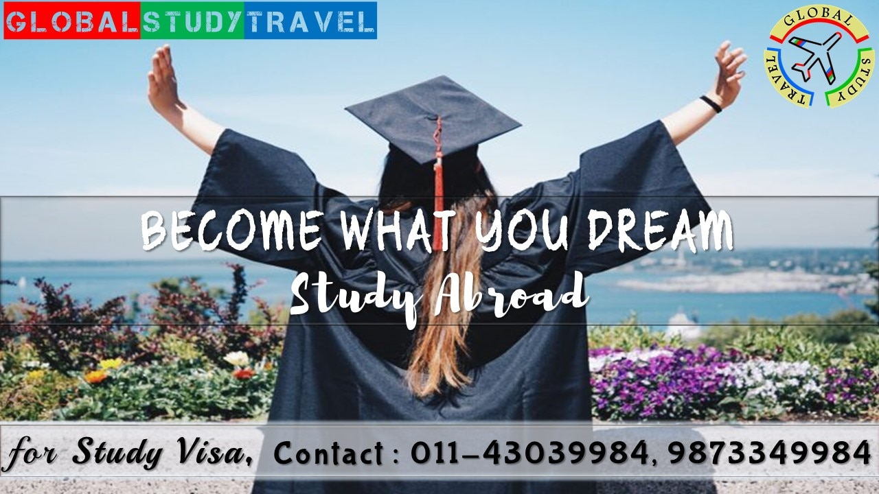 With the world becoming a smaller place, there have been ample opportunities for gaining quality education all over the globe. Such many options of study also bring a great level of confusion with them. It is very important to choose the 3Cs – Course, Country & College in the right way. It is important to select the right combination and this is where GLOBAL STUDY TRAVEL expertise. We assist students to get study visa for Canada, Australia, New Zealand, USA, UK, South Africa, Sweden, France, Spain, Netherlands, Latvia, Czech Republic & many more countries.  Our services include:                                                              -         Career Counselling -         IELTS preparation classes -         College/University Selection based on the student's profile and the funds available with them -         Documentation process -         Visa Filing services -         Interview preparation -         In post-visa services, we help the students with necessities like Foreign Exchange, Telecom Services, Free-Airport Pickup, Accommodation assistance and Job Search assistance etc. -         Permanent Residence application services