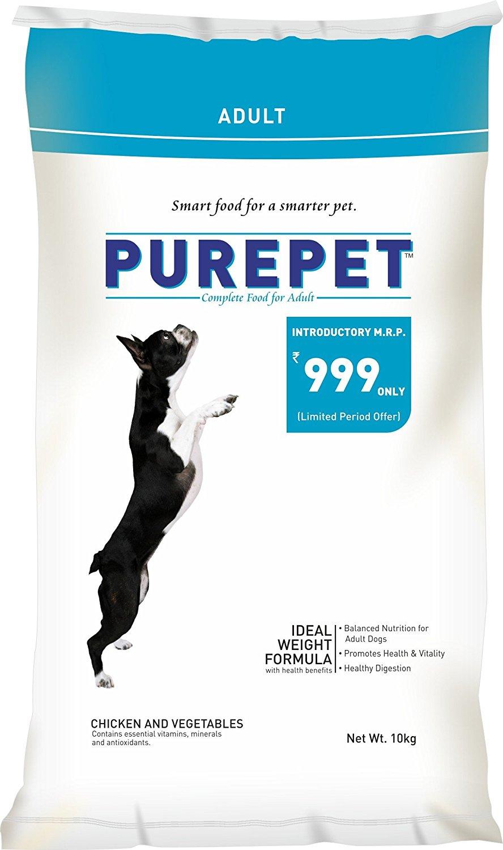 Pure Pet Chicken & Vegetables Adult Dog Food, 10Kg