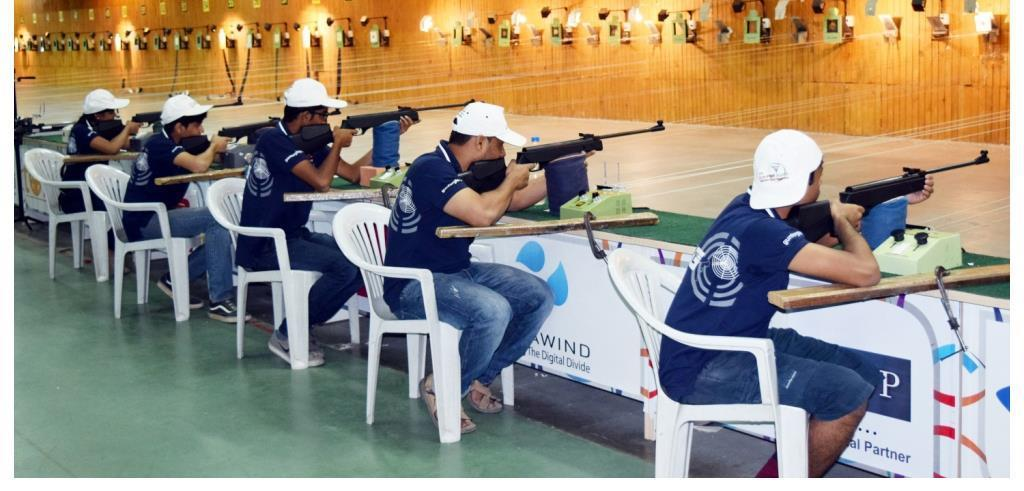 Foundation Course (Air Weapon): Duration 1 Month.   This program is aimed at the beginners. Especially for those who have never touched a weapon before. First Shot is  conducted on open sight Air Rifles and all the fundamentals of shooting like the safety rules,  parts of the weapon, correct breathing, aiming, triggering techniques etc are covered in this program. The  student is given theoretical and practical knowledge about the shooting sport and made to practice on the  10 mtr range with a inter batch match at the end of the program. The students are also given a workbook  along with a GFG T Shirt and a cap as a part of the welcome kit. The student is also introduced to the SCATT  SIMULATORS.   1.	Introduction of Sport of Shooting.  2.	The conceptualization of the course has been entirely done by our foreign  coaches having an experience of 40 years with 10 different countries.  3.	Specialized training has been provided to each coach to deliver the  program as per the designed elements.  4.	All Students are trained at the state of the art Olympic Facility Shooting  range.  5.	All basic techniques of Shooting covered.