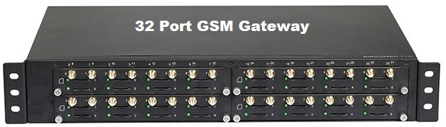 A GSM gateway is use
