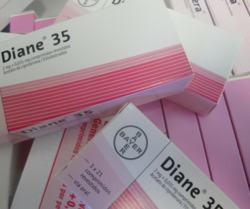 DIANE-indicated for-hirsutism (excessive unwanted growth of hair in women) in women of reproductive age,moderate to severe acne It is a combination of Cyproterone / Ethinyl Estradiol Pill world wide.