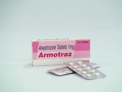Minimum Order Quantity	10 Piece Dose	1 mg/day Usage	Commercial, Clinical, Hospital, Personal, Pharmacy Drop Shipper & Medicine Drop Shipper Packaging Size	1 mg x 10's Packaging Type	Tablet Anastrozole is a potent and highly selective non-steroidal aromatase inhibitor. In postmenopausal women, oestradiol is produced primarily from the conversion of androstenedione to oestrone through the aromatase enzyme complex in peripheral tissues. Oestrone is subsequently converted to oestradiol. Reducing circulating oestradiol levels has been shown to produce a beneficial effect in women with breast cancer. In postmenopausal women, anastrozole at a daily dose of 1 mg produced oestradiol suppression of greater than 80%, using a highly sensitive assay. Anastrozole does not possess any progestogenic, androgenic or oestrogenic activity, but does perturb the circulating levels of progesterone, androgens and oestrogens.