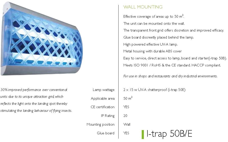 i-trap 50E wall moun